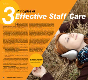 3 Principles of Effective Staff Care