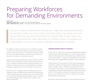 Preparing Workforces for Demanding Environments